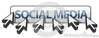 Multiple cursors around social media
