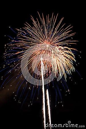 Multiple Fireworks Burst