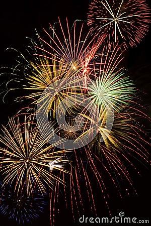 Multiple Fireworks Explosions