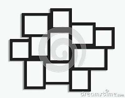 multiple frames stock photo image 43970150. Black Bedroom Furniture Sets. Home Design Ideas