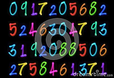 Multiple light numbers