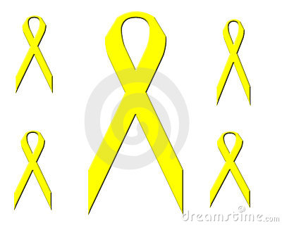 Multiple Yellow Ribbons