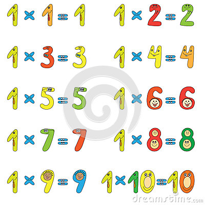 Multiplication Table Of 5 Royalty Free Stock Photography - Image ...