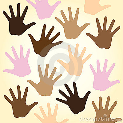 Multiracial hands