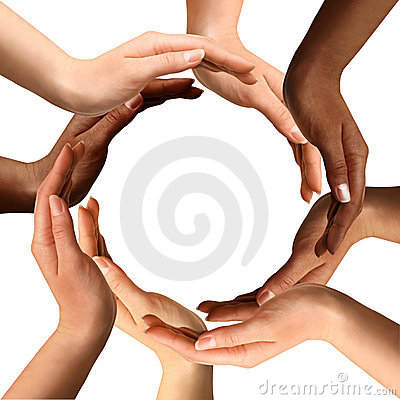 Free Multiracial Hands Making A Circle Stock Image - 13180691