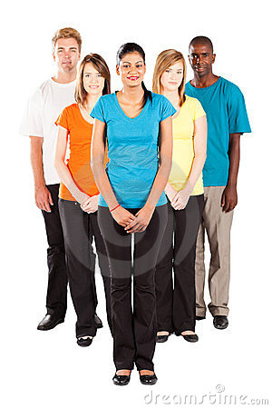 Multiracial people isolated