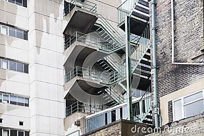 Multistory fire escape