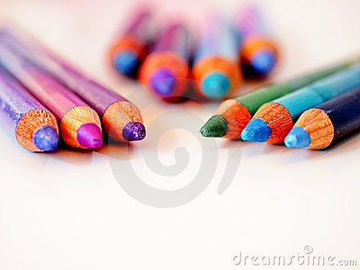 A multitude of colorful pencils