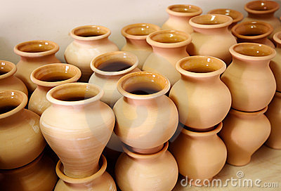Multitude of pottery