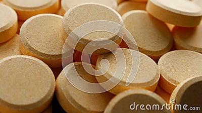 Multivitamin supplement tablet stock video