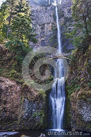 Multnomah Falls in Columbia River Gorge Oregon