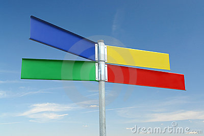 Multway color signpost