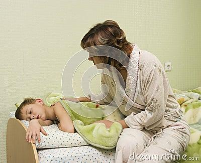 Mum awakes the son