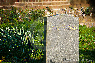 Mum and dad gravestone
