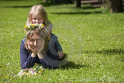 Mum and daughter play the fool