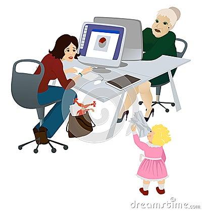 Mum De Trabalho No Escritório