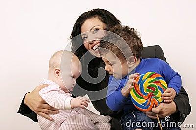 Mum and the kids