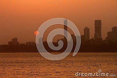 Mumbai City skyline at dawn