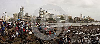 Mumbai coast Editorial Stock Image