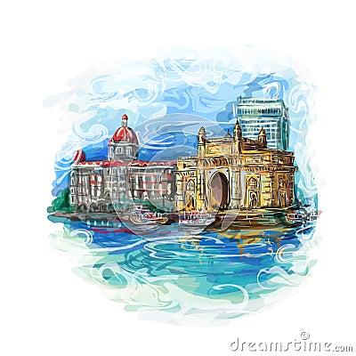Free Mumbai, India Gate Stock Photography - 65404352