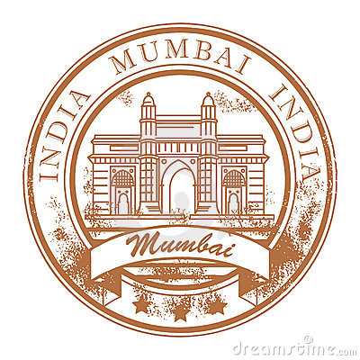 Mumbai, India stamp