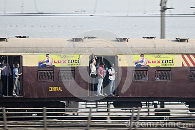Mumbai Local train Editorial Stock Photo