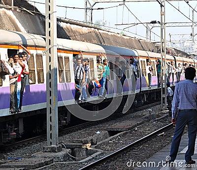 Mumbai Local train Editorial Photography