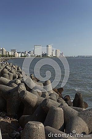 Free Mumbai S Marine Drive Skyline, Queen S Necklace, Mumbai, Maharas Royalty Free Stock Photography - 40921067