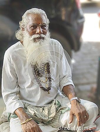 Mumbai street guru Editorial Stock Image