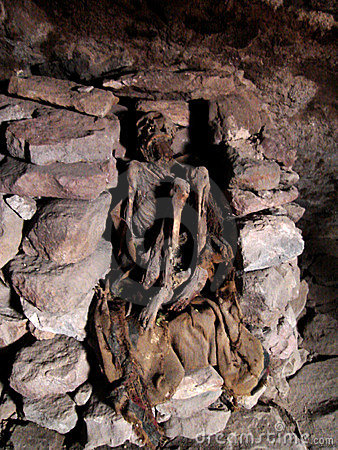 Mummy in Andes
