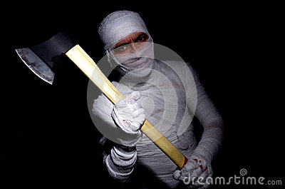 Mummy with axe