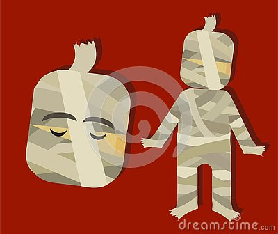 Mummy scary horror character for kids for halloween Stock Photo