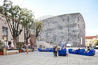 Mumok Museum Modern Kunst - Museum of Modern Art in Vienna, Austria. Editorial Image