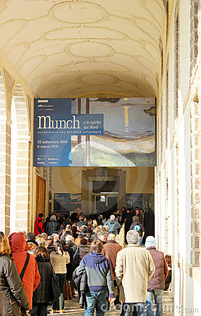 Munch paintings exhibition Editorial Photography