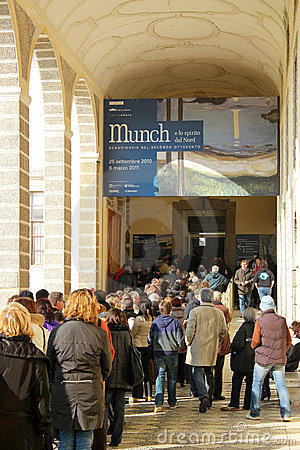 Munch paintings exhibition Editorial Image