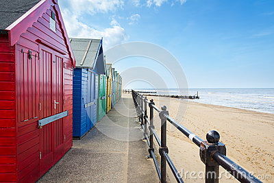 Mundesley Beach Huts Norfolk England