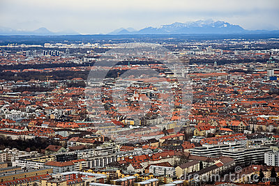 Munich aerial view