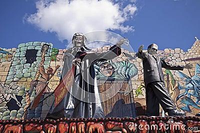 Munich, Frühlingsfest , horror attraction Editorial Stock Photo