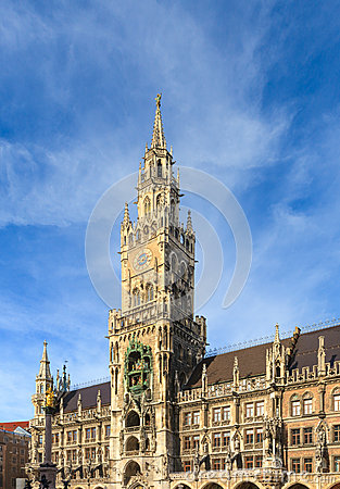Munich, Gothic City Hall at Marienplatz, Bavaria