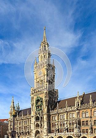 Munich, Gothic City Hall at Marienplatz, Bavaria