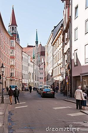Munich - Innercity streetscene Editorial Stock Image
