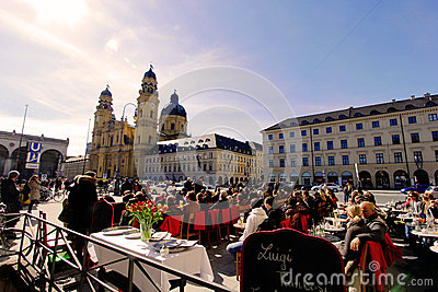 Bathe in the sun in Munich Editorial Stock Photo