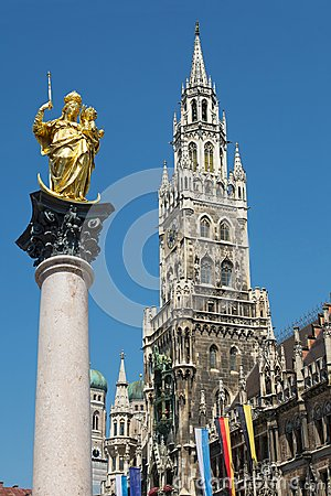 Free Munich Marienplatz, Germany Royalty Free Stock Image - 106135176