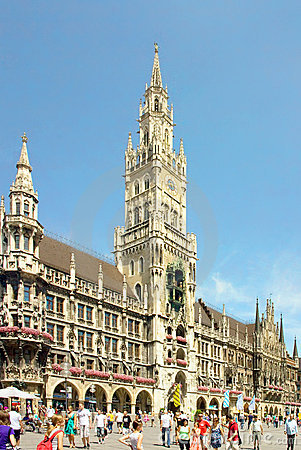 Munich, Marienplatz, Germany Editorial Photo