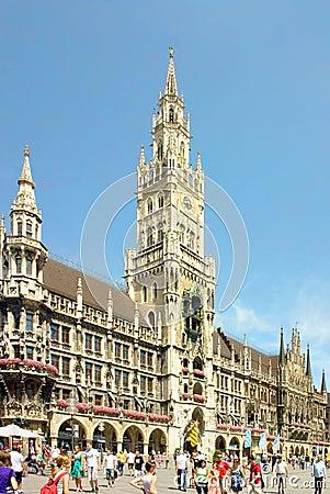 Munich, Marienplatz, Germany Editorial Photo
