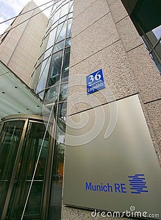 Munich Re Editorial Photo