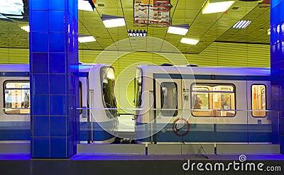 munich subway station of muenchner freiheit editorial. Black Bedroom Furniture Sets. Home Design Ideas
