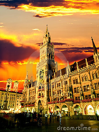 The Munich town hall Editorial Image