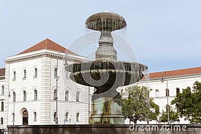 Munich University fountain