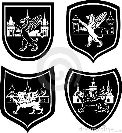 Municipal arm with a griffin